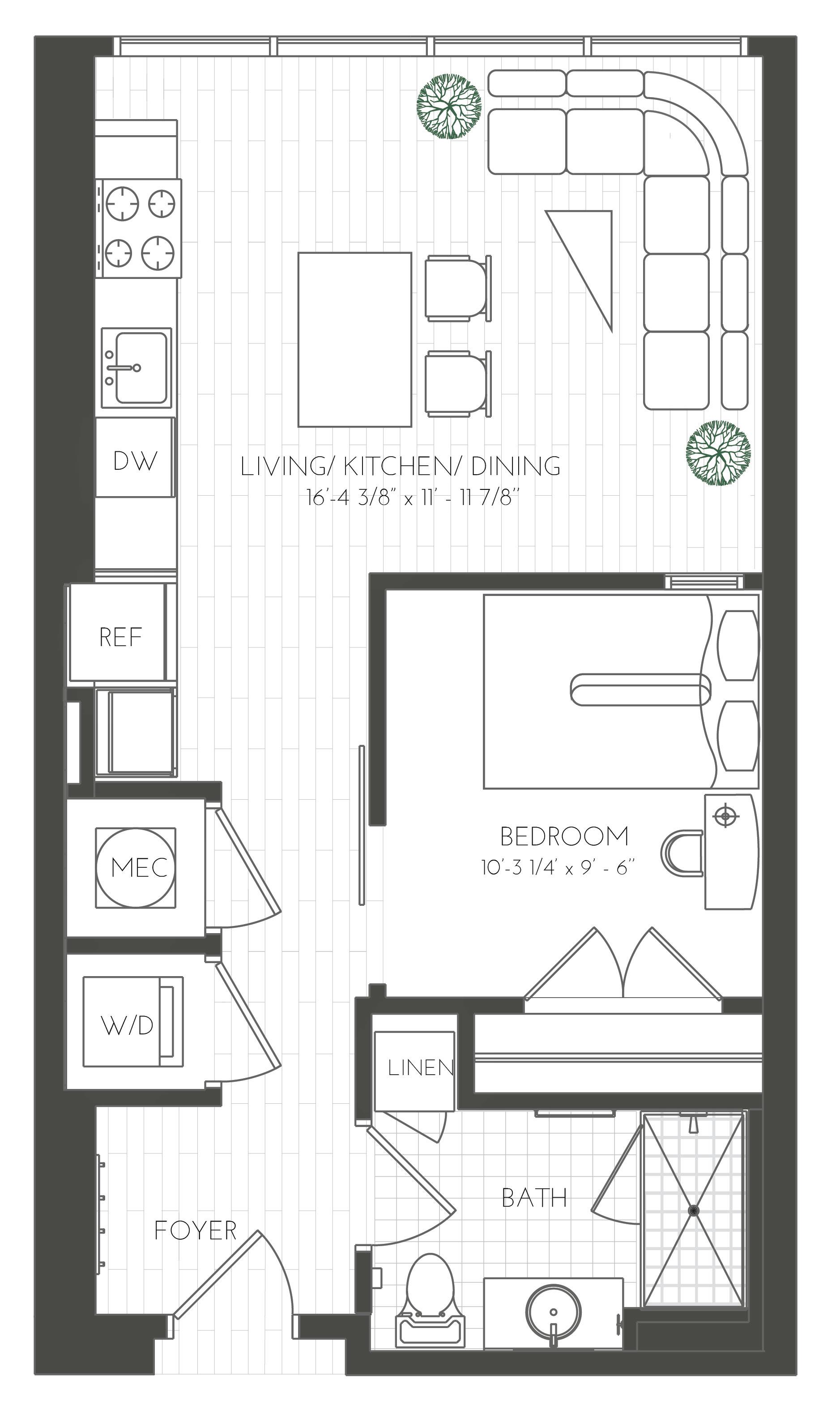 Floor Plans Two Light Luxury Apartments In Kansas City
